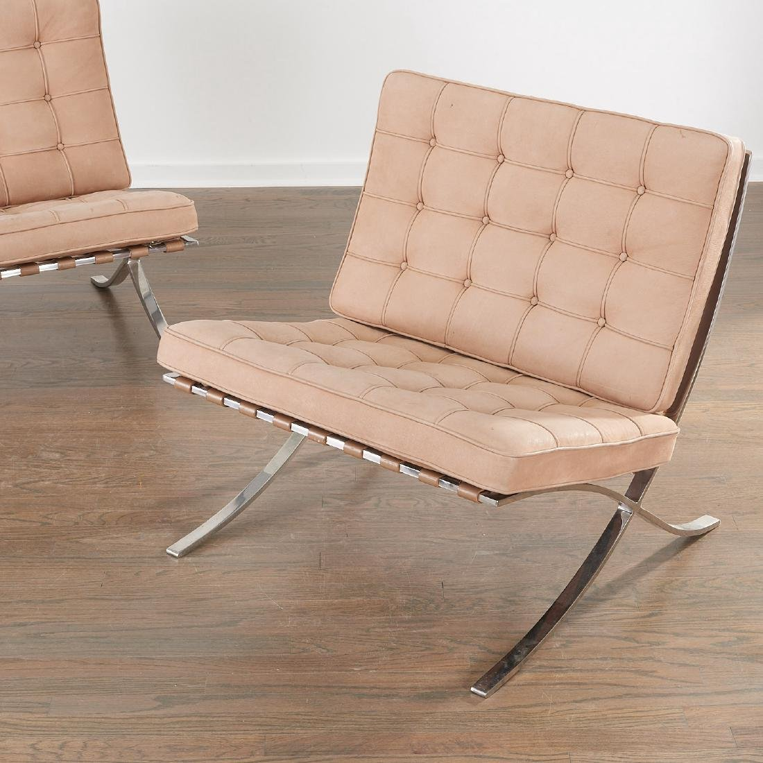 pair knoll barcelona chairs