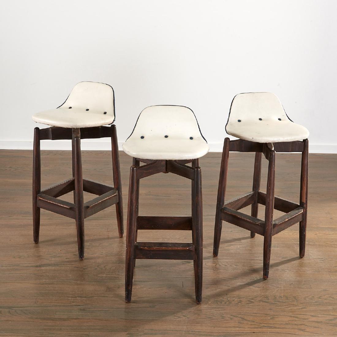 (3) Arne Vodder bar stools