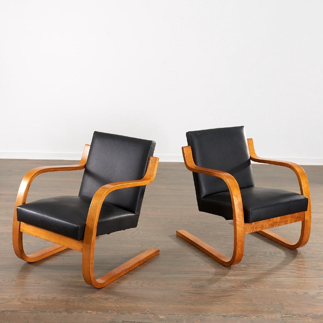 Vintage Pair Alvar Aalto cantilevered chairs