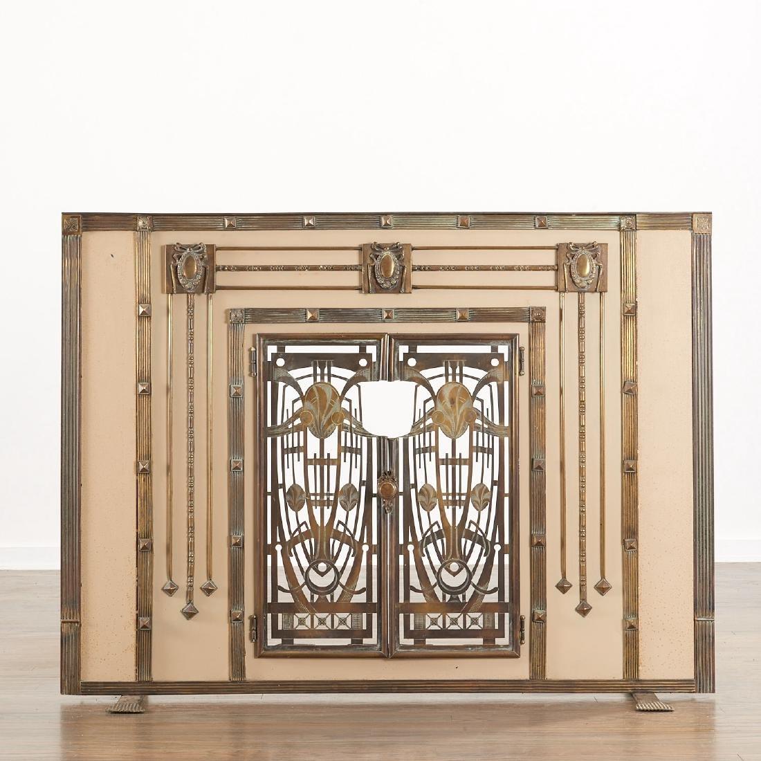 Art Deco fire screen