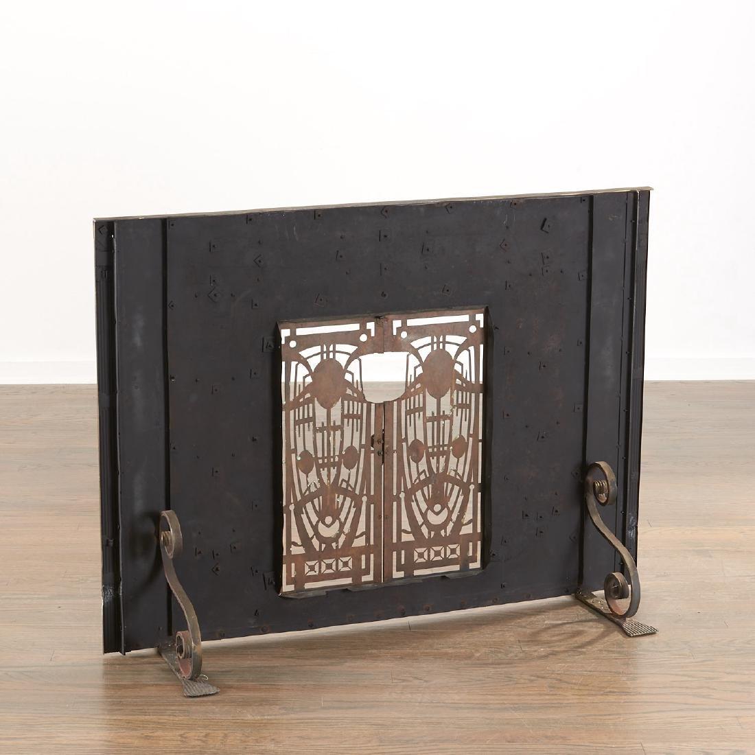 Art Deco fire screen - 5
