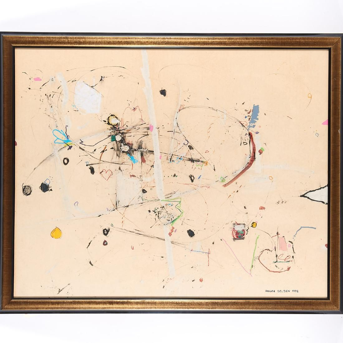 Roger Selden, mixed media painting