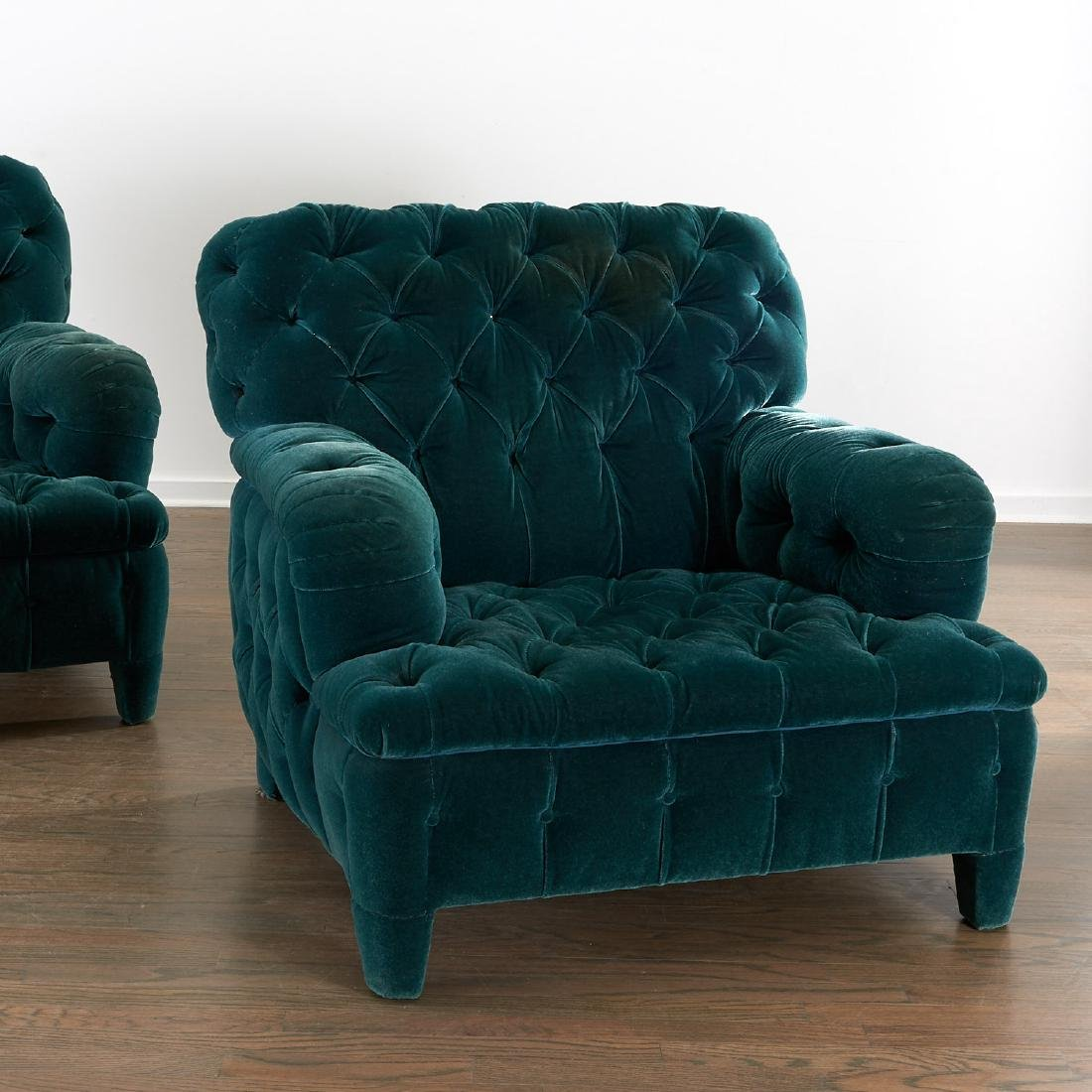 Important pair of club chairs by Jacques Grange