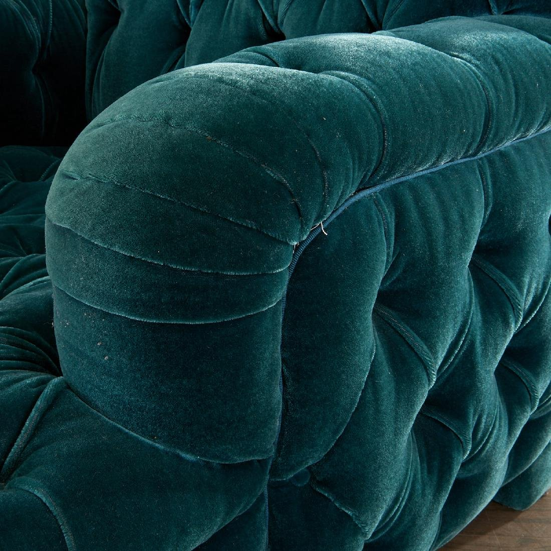 Important pair of club chairs by Jacques Grange - 3