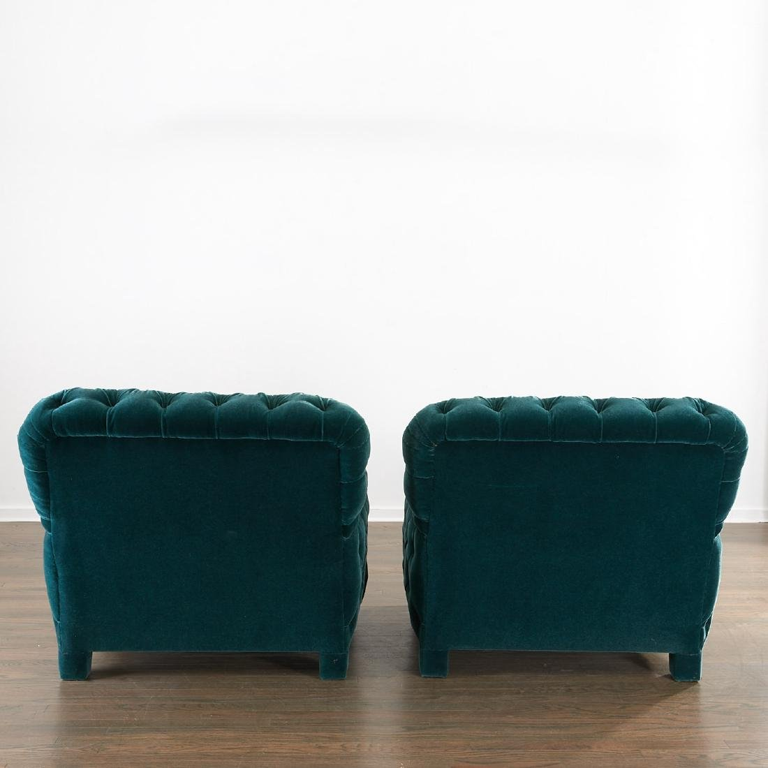 Important pair of club chairs by Jacques Grange - 8