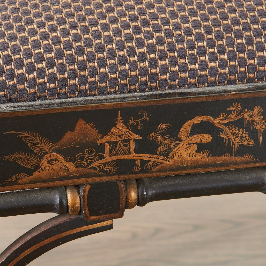 Pair Jacques Grange sourced Chinoiserie chairs - 8