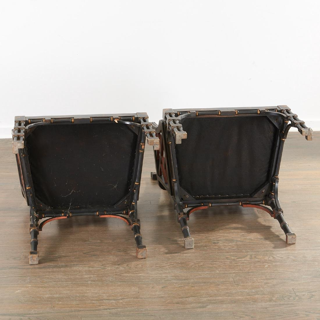 Pair Jacques Grange sourced Chinoiserie chairs - 9