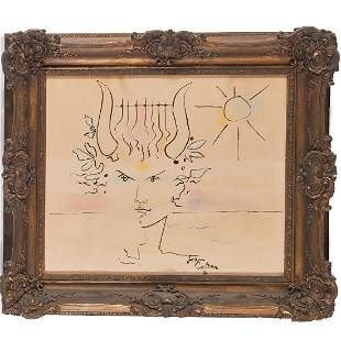Jean Cocteau, drawing