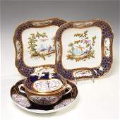 Group 3 early Sevres porcelain serving pieces
