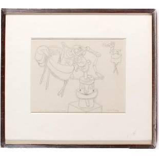 Paul Klee, pencil drawing