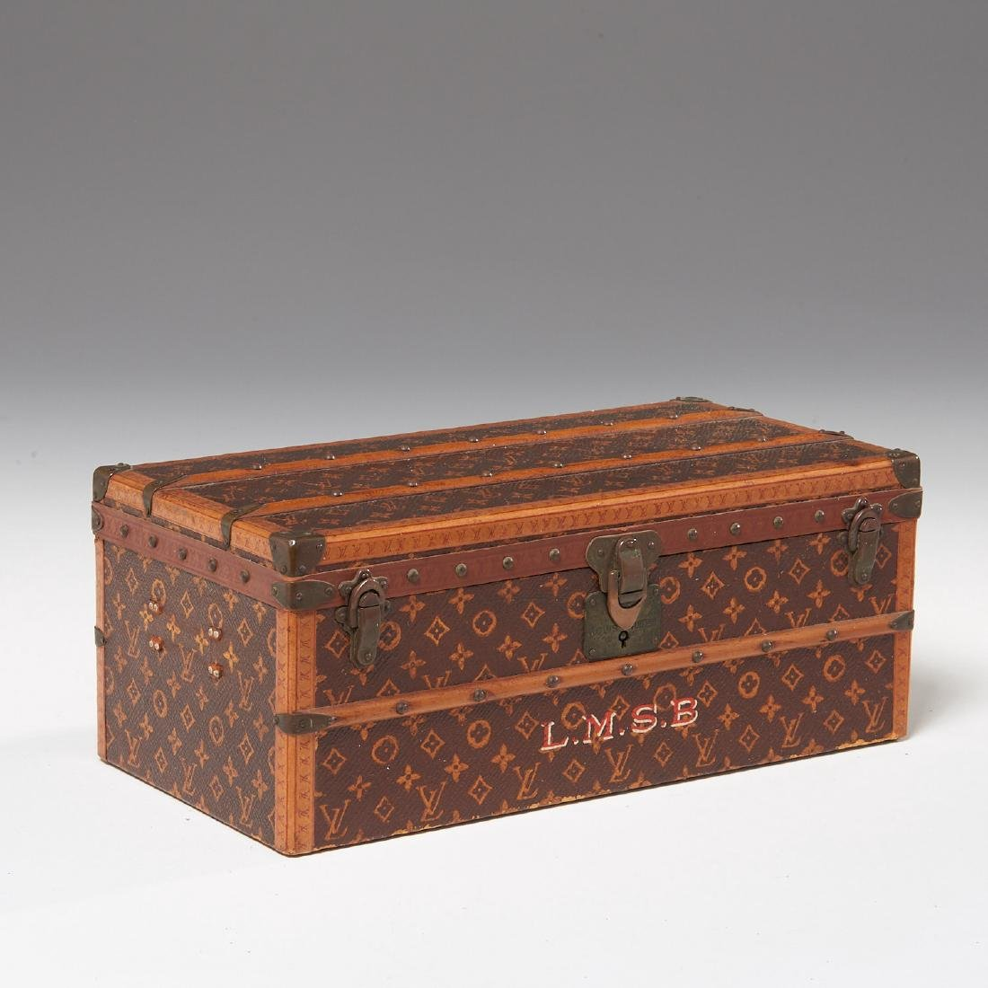 "Rare Louis Vuitton ""Malle Fleurs"" miniature trunk"