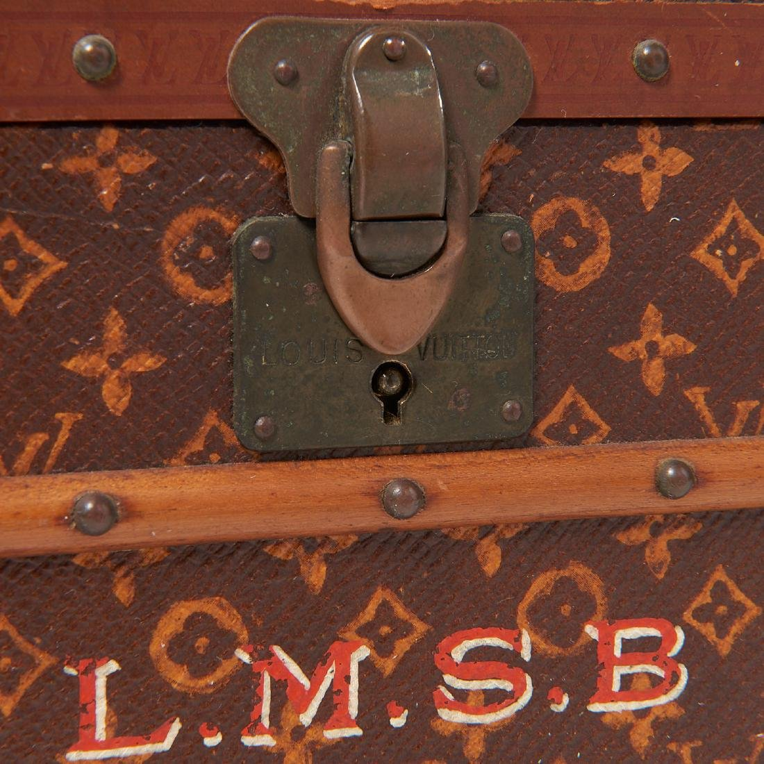 "Rare Louis Vuitton ""Malle Fleurs"" miniature trunk - 3"