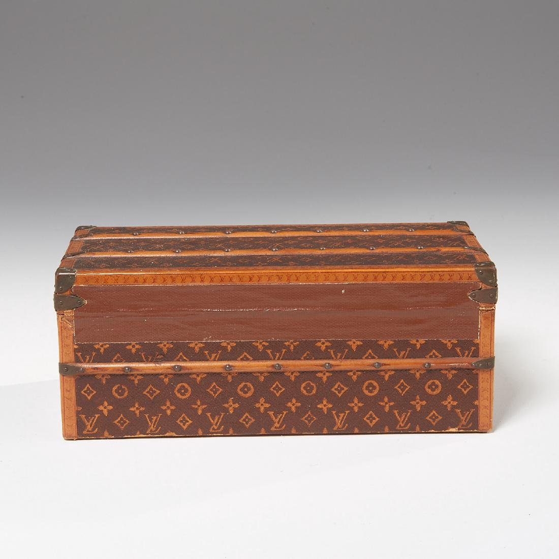 "Rare Louis Vuitton ""Malle Fleurs"" miniature trunk - 5"
