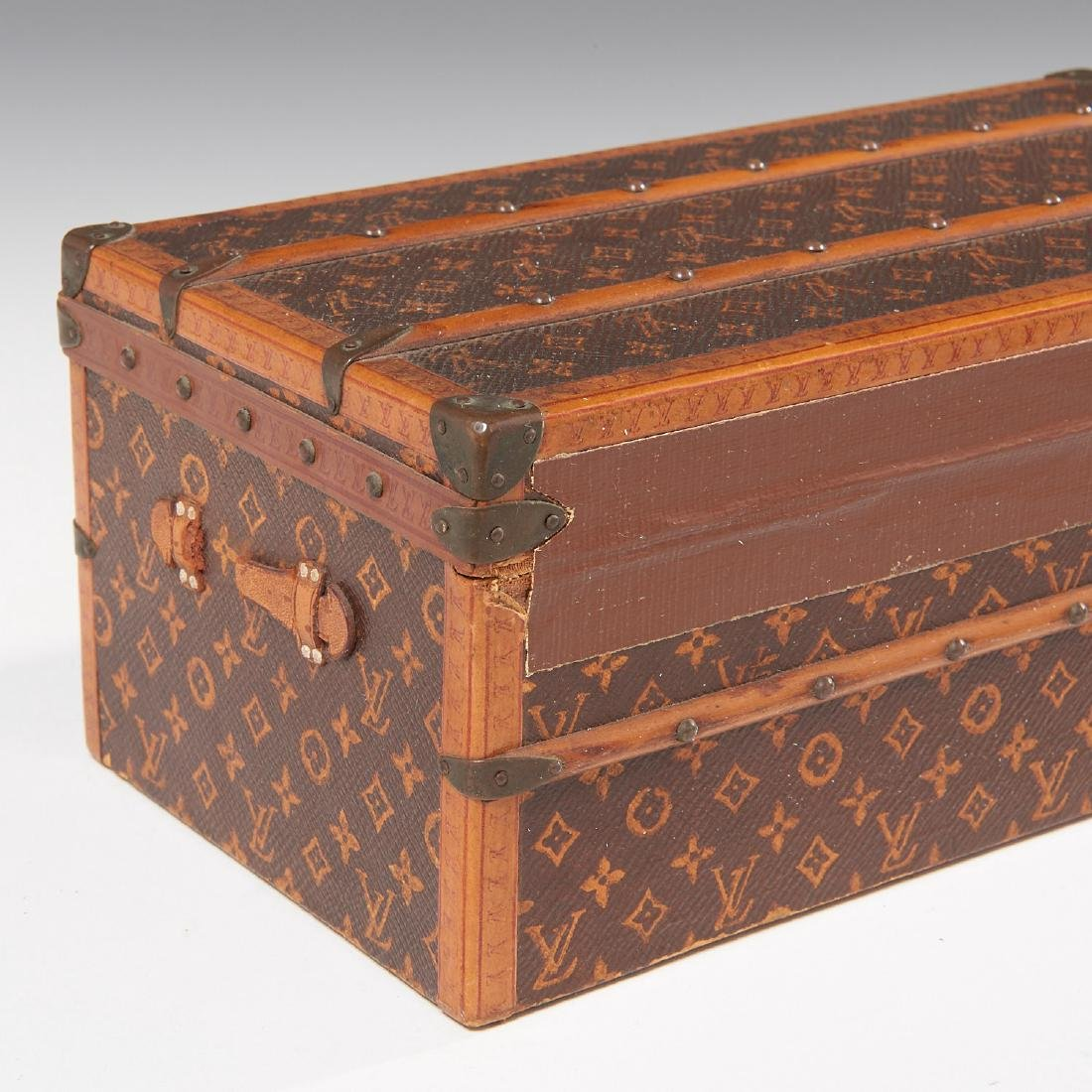 "Rare Louis Vuitton ""Malle Fleurs"" miniature trunk - 6"