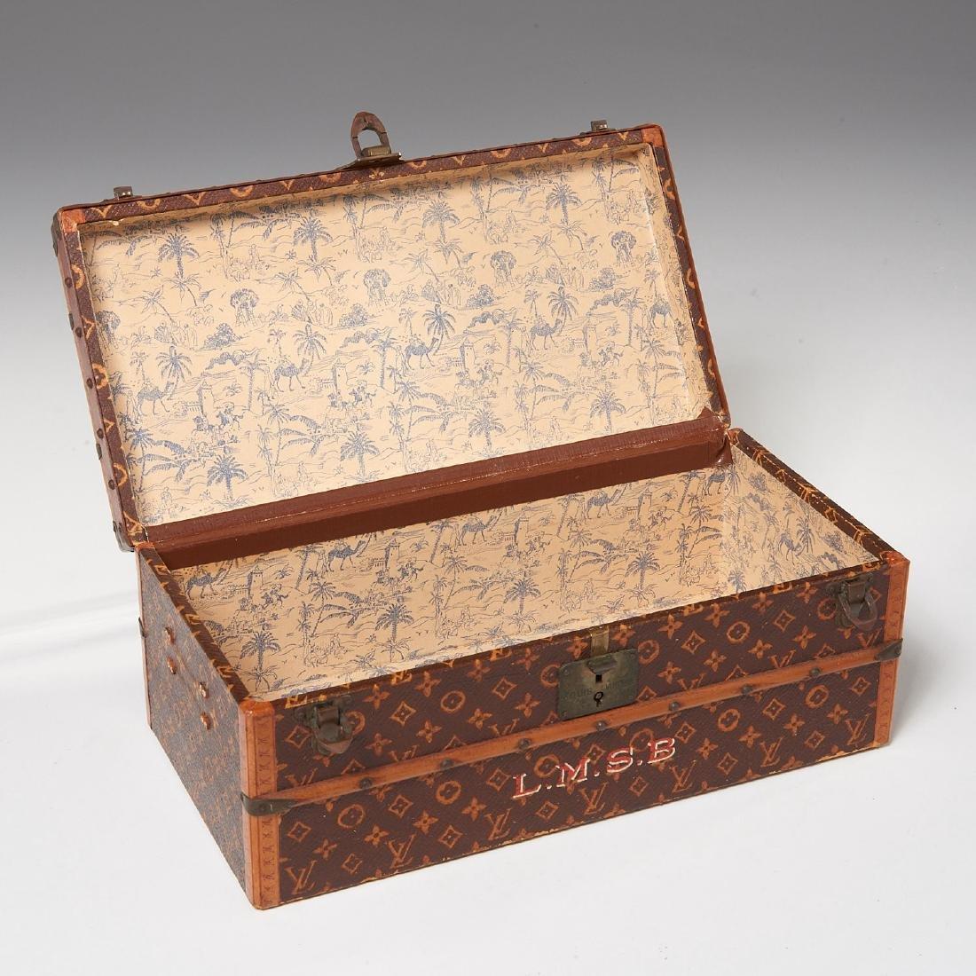 "Rare Louis Vuitton ""Malle Fleurs"" miniature trunk - 7"