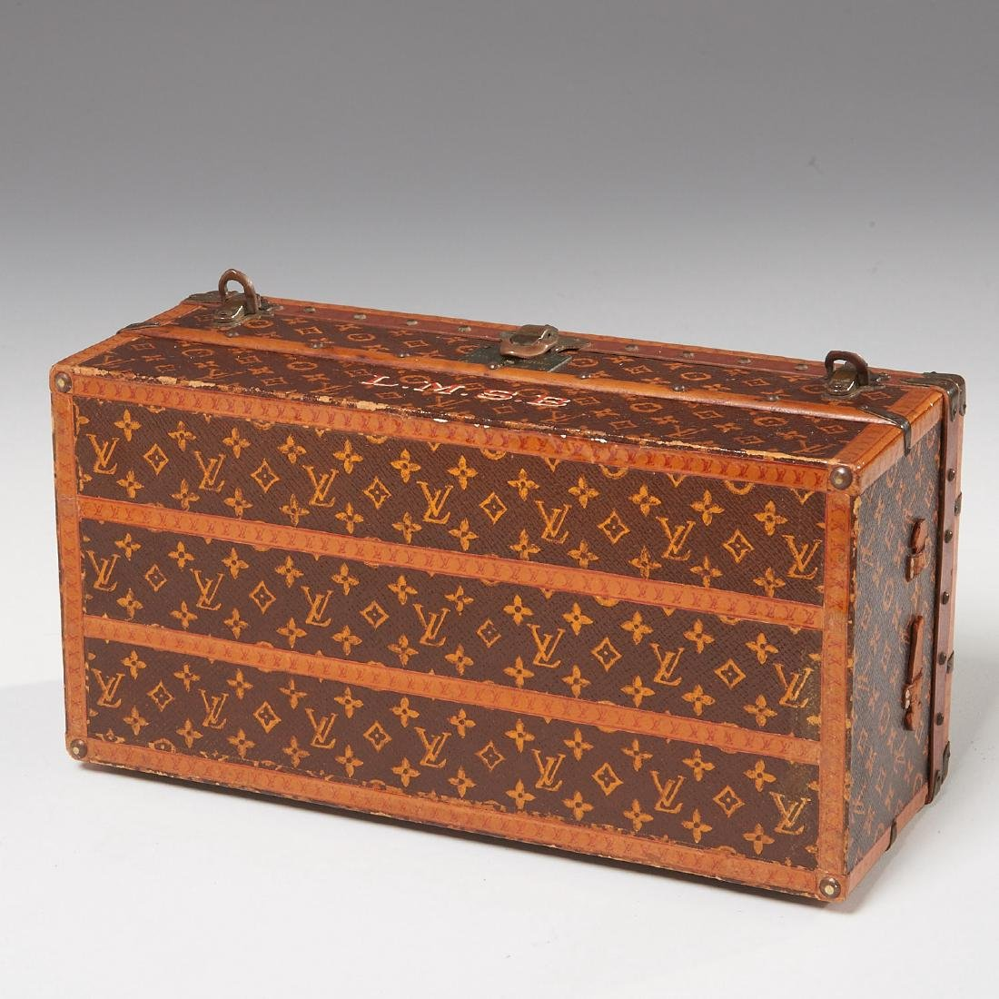 "Rare Louis Vuitton ""Malle Fleurs"" miniature trunk - 9"