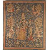 Antique Flemish tapestry panel