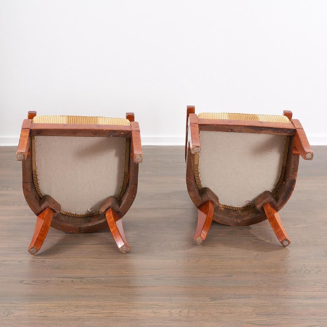 Pair Biedermeier burlwood armchairs - 6
