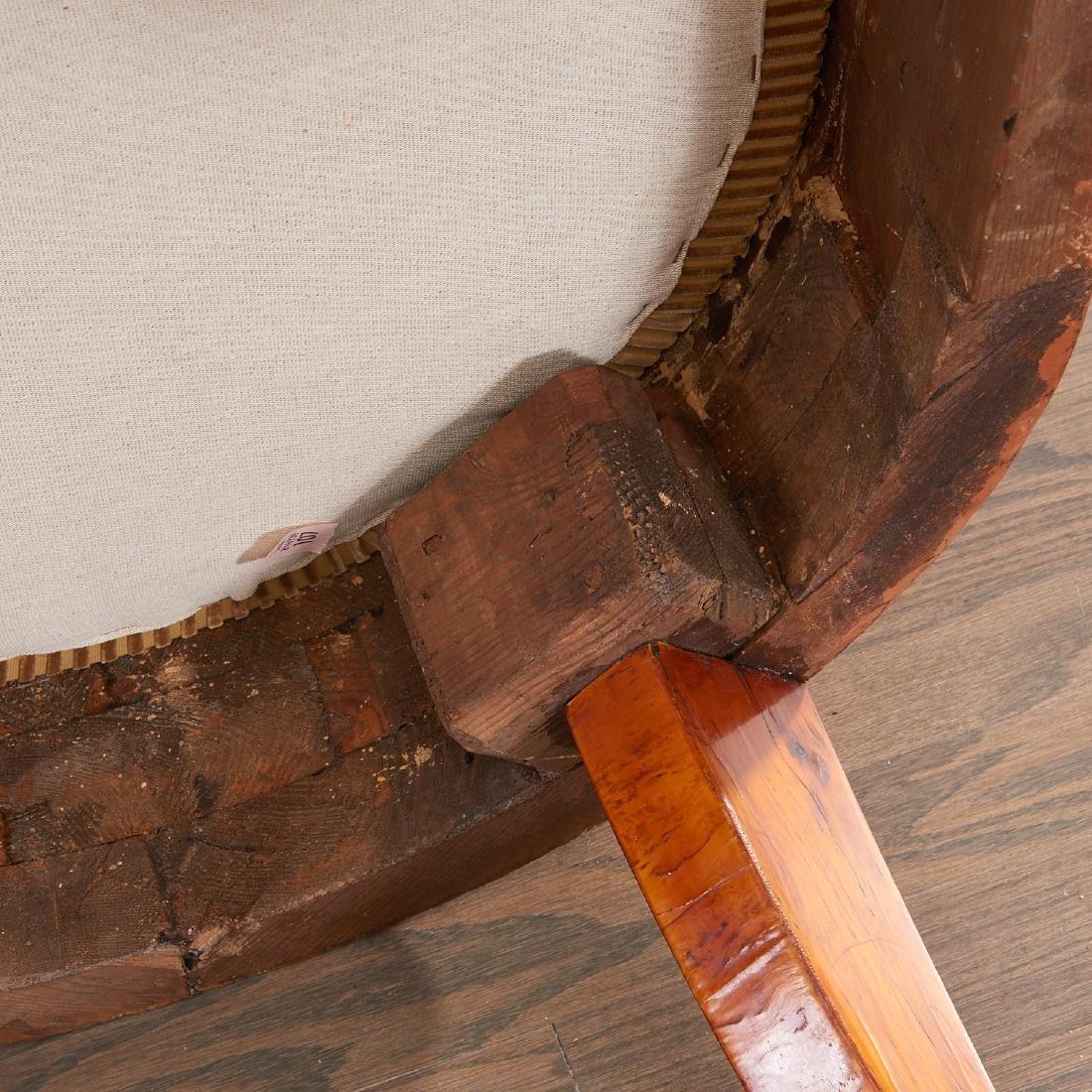Pair Biedermeier burlwood armchairs - 7