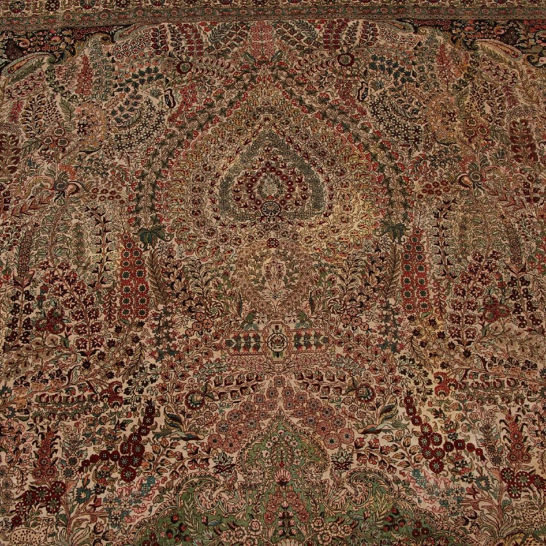 Very fine Hereke style silk rug