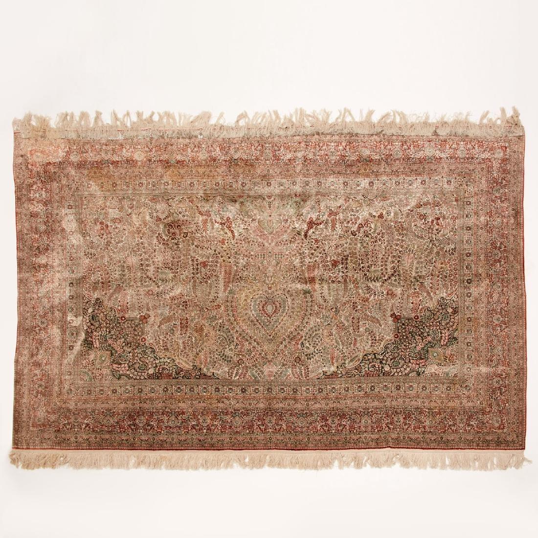 Very fine Hereke style silk rug - 2