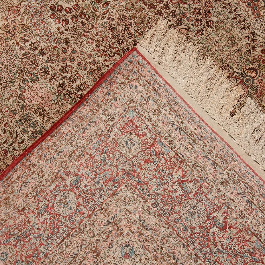 Very fine Hereke style silk rug - 7