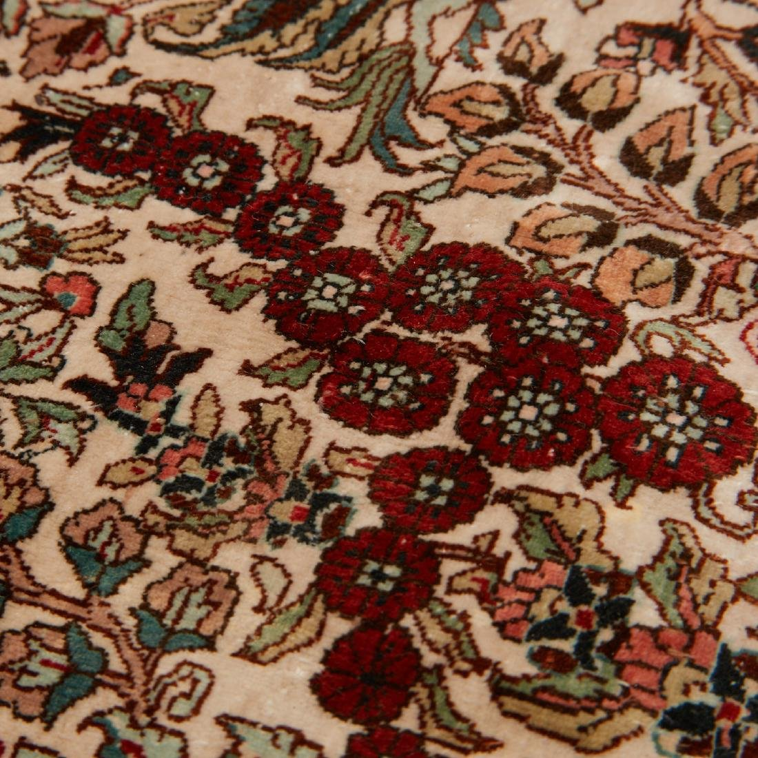 Very fine Hereke style silk rug - 8