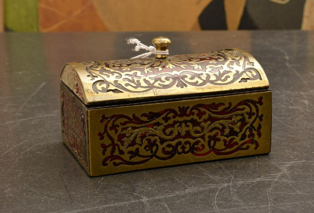 Antique Boulle-work dome top match box