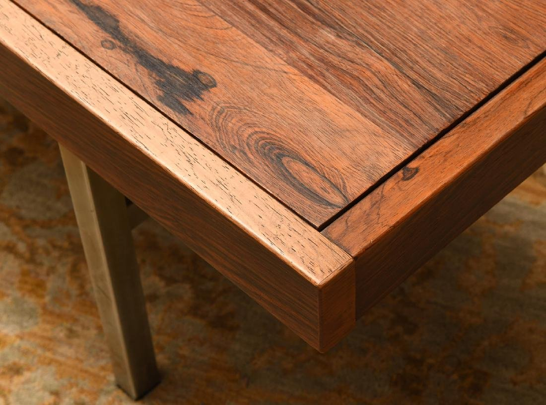 Modernist rosewood and natural stone coffee table - 4