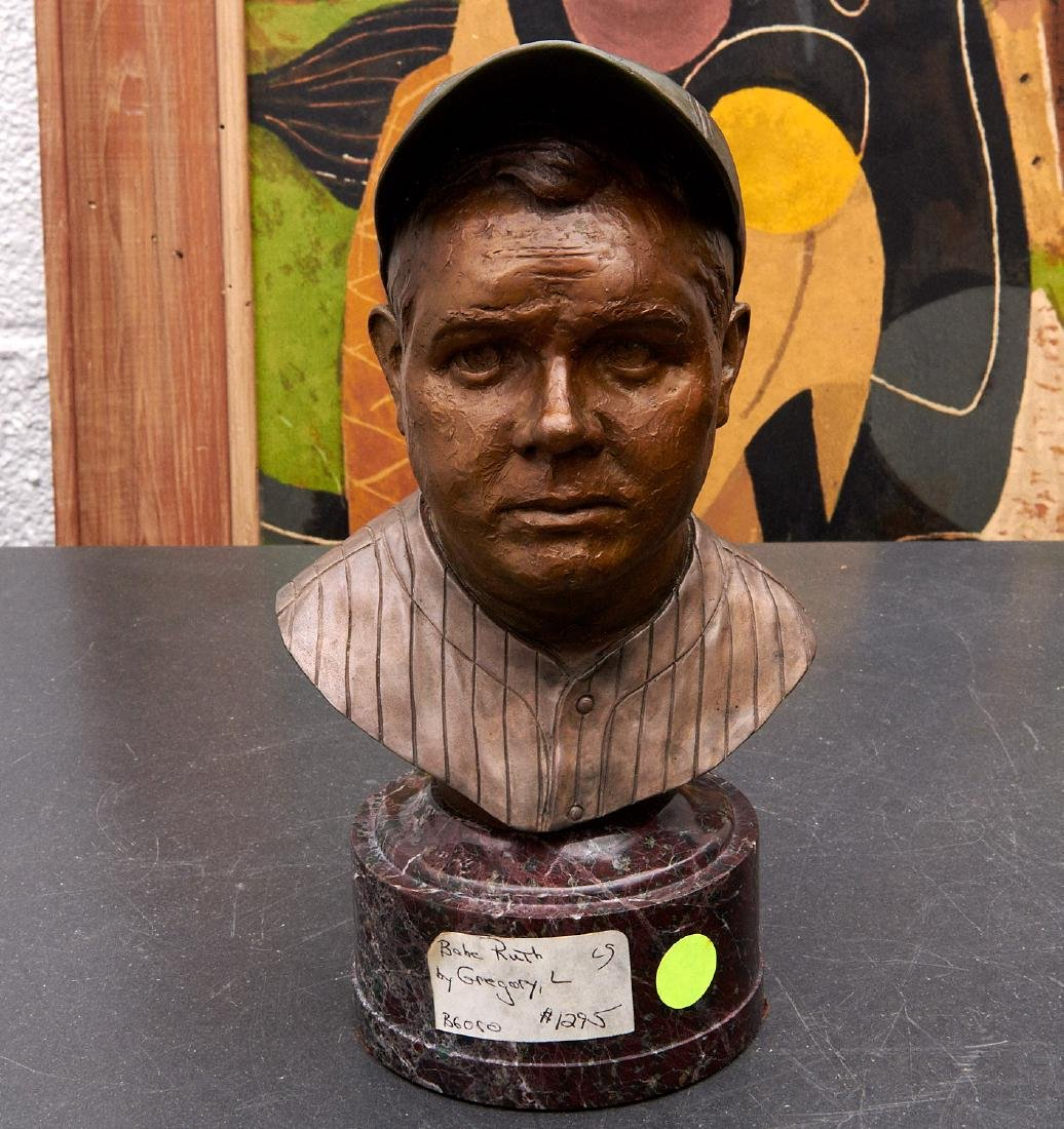 J. Gregory, bronze bust of Babe Ruth