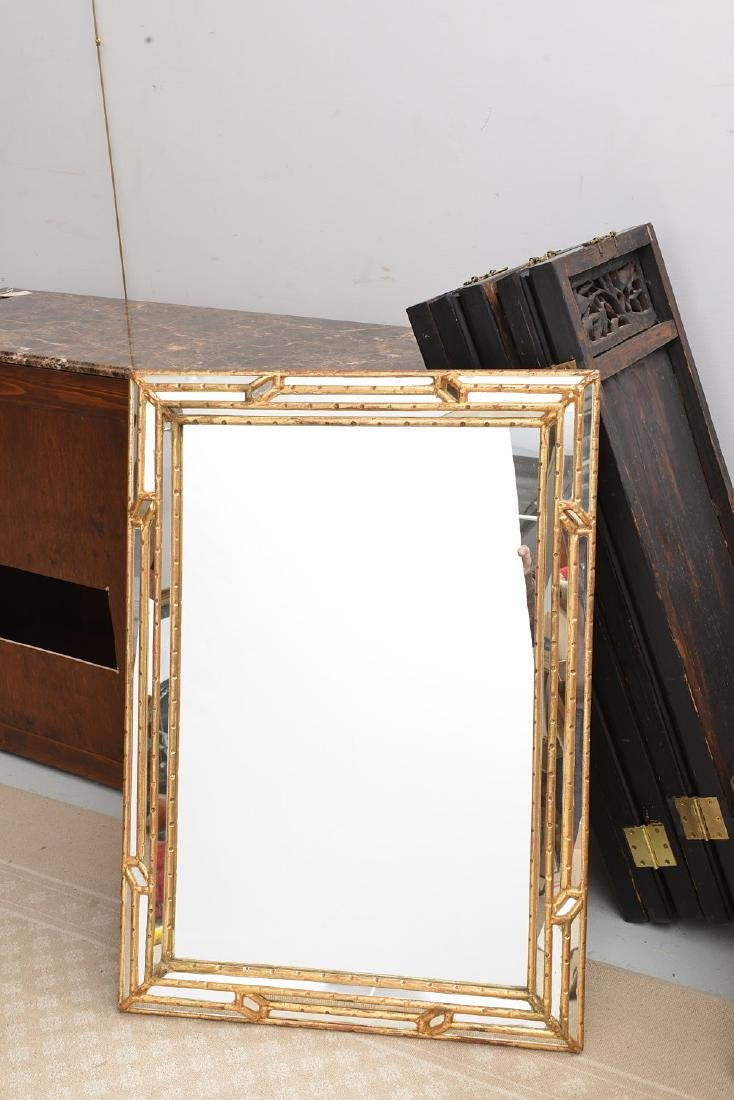 Friedman Brothers bamboo style gilded mirror
