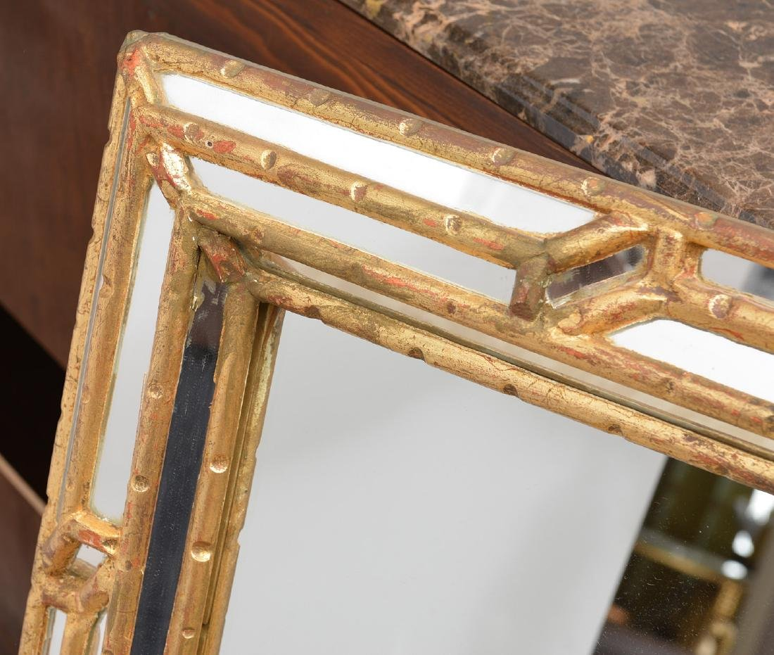 Friedman Brothers bamboo style gilded mirror - 2