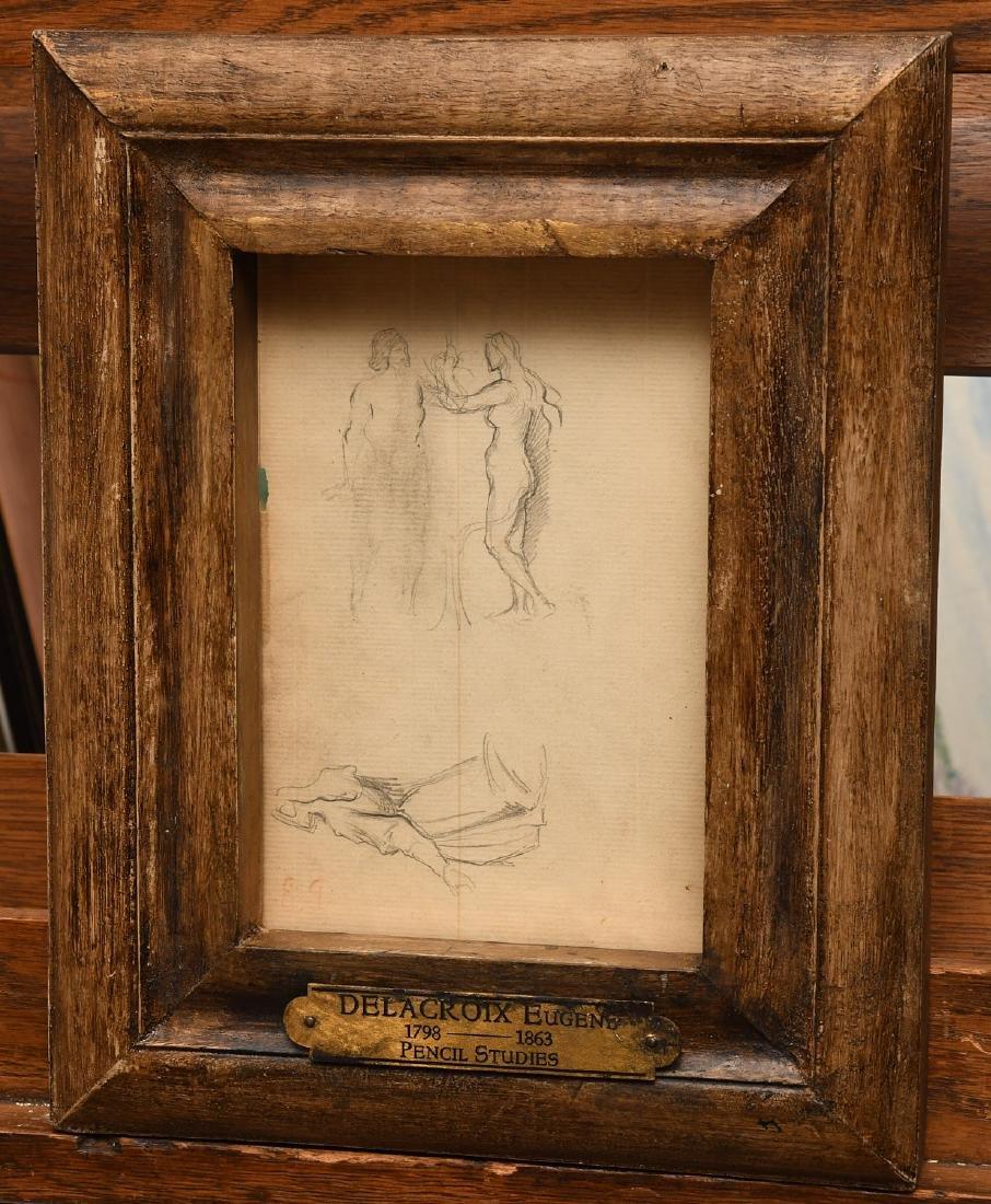 Eugene Delacroix, pencil sketches
