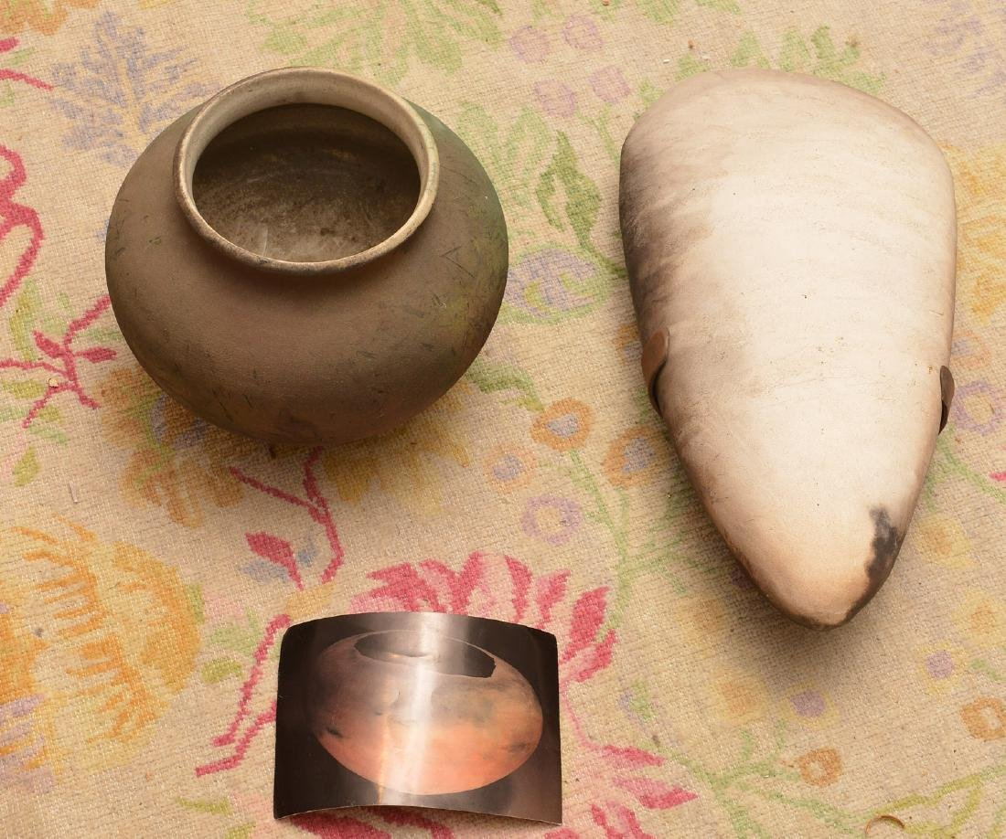 Bonnie Lynch, (2) ceramic vessels