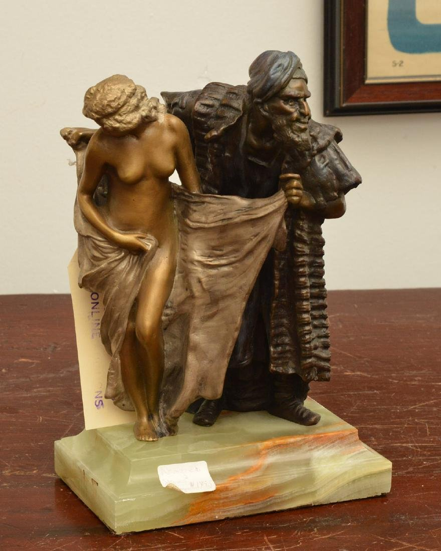 After Franz Bergman, erotic bronze sculpture