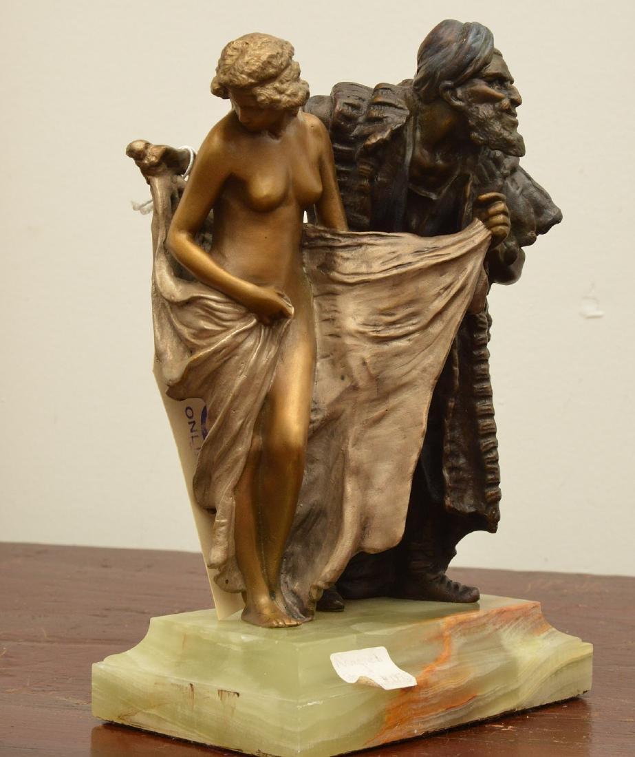 After Franz Bergman, erotic bronze sculpture - 2