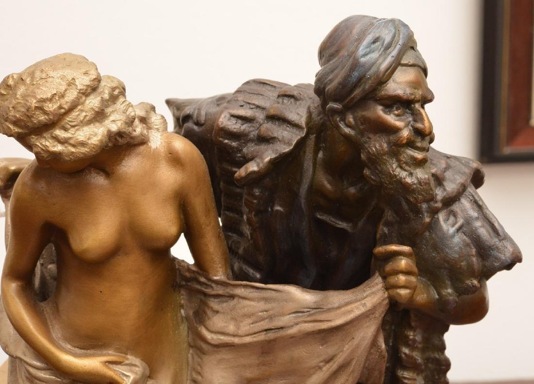 After Franz Bergman, erotic bronze sculpture - 6