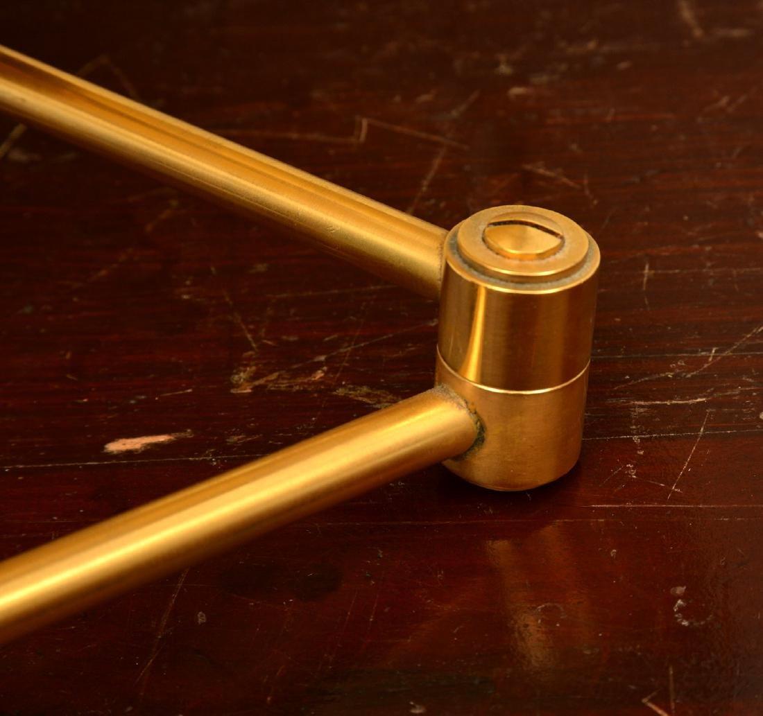 Pair decorator quality bronze swing arm sconces - 7