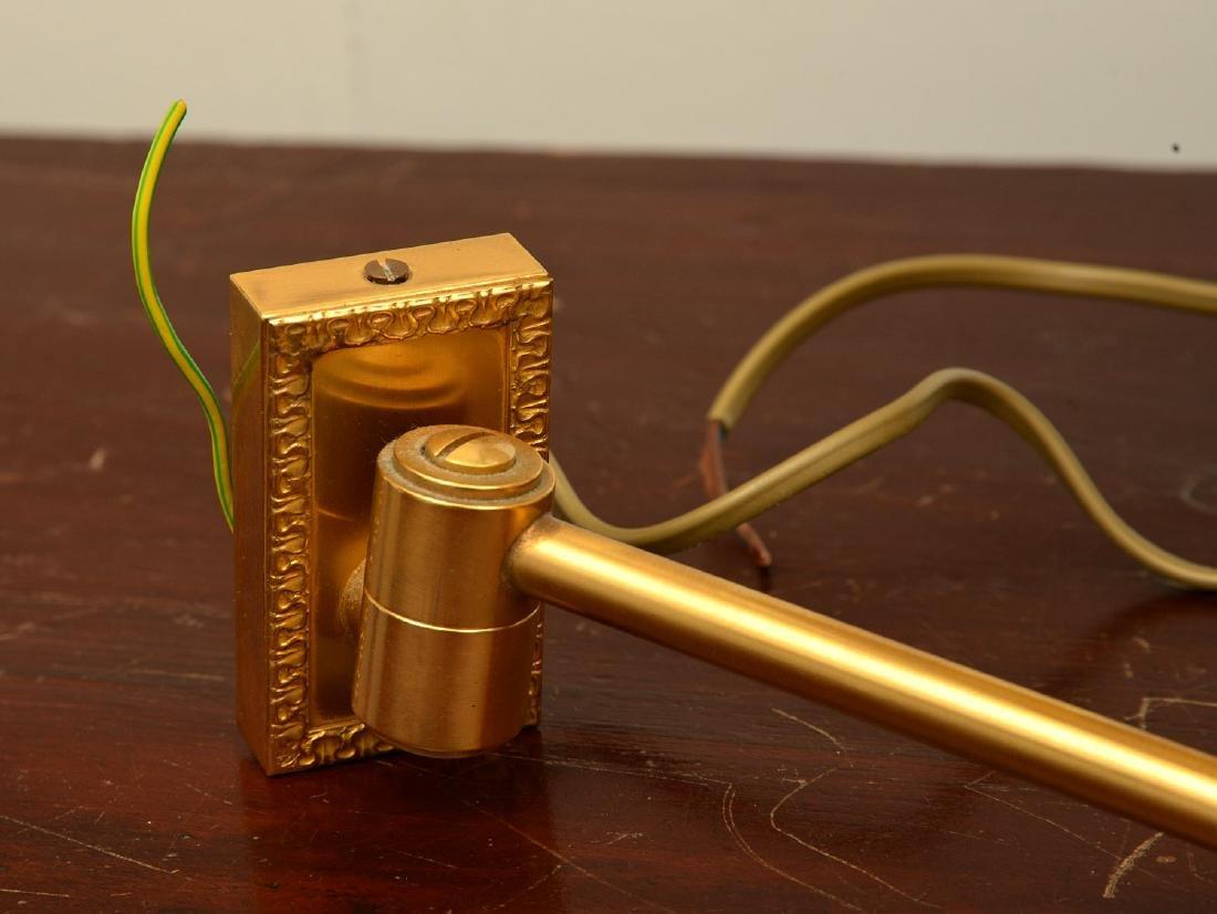 Pair decorator quality bronze swing arm sconces - 8