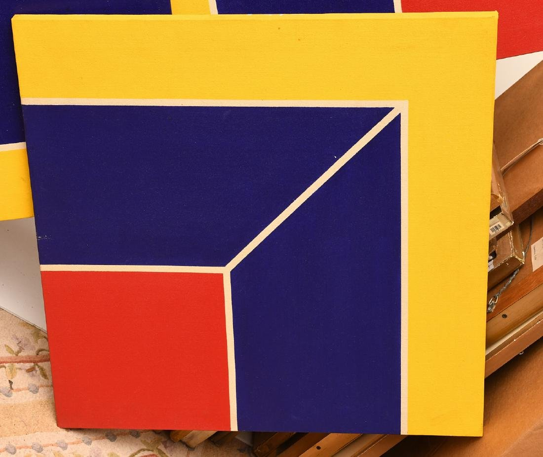 Manner of Frank Stella, set (4) paintings - 2