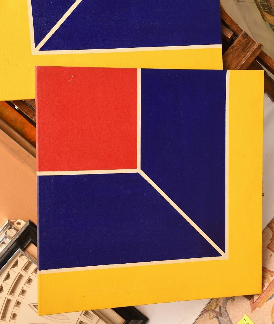 Manner of Frank Stella, set (4) paintings - 3