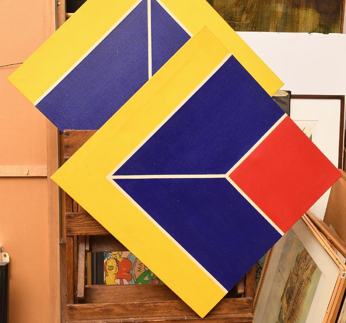 Manner of Frank Stella, set (4) paintings - 4