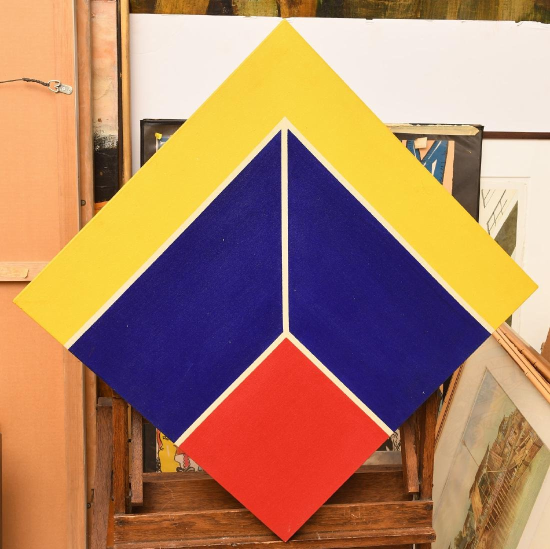 Manner of Frank Stella, set (4) paintings - 5