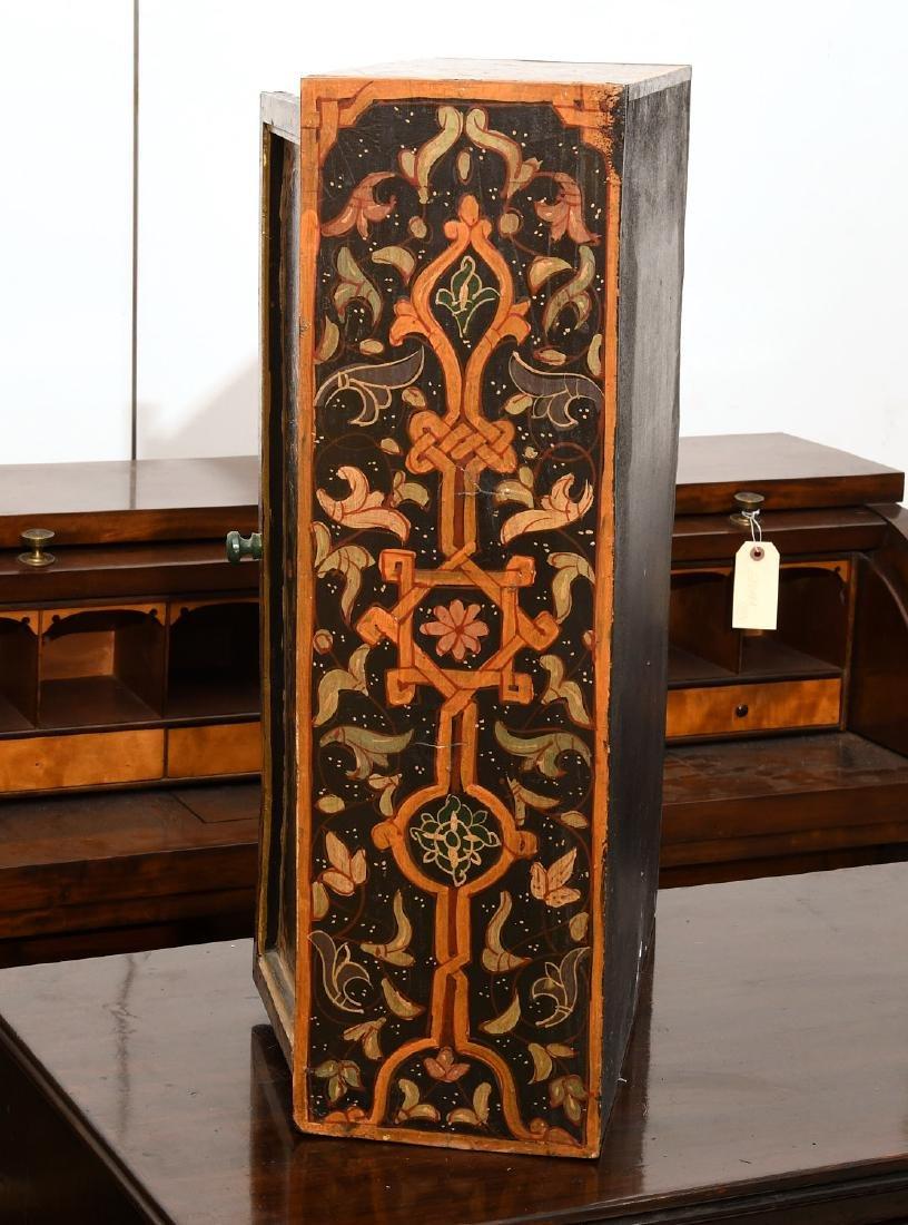 Hand-painted Tibetan style folk art chest - 7