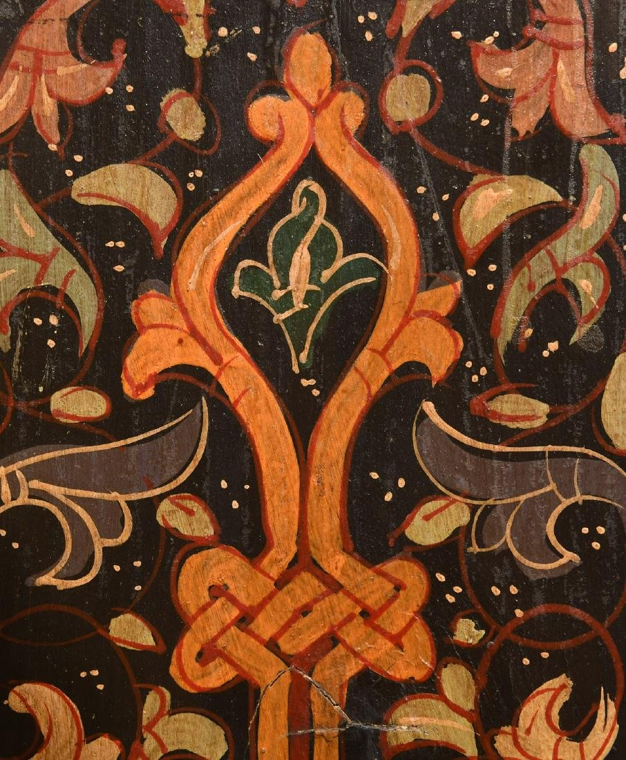 Hand-painted Tibetan style folk art chest - 8