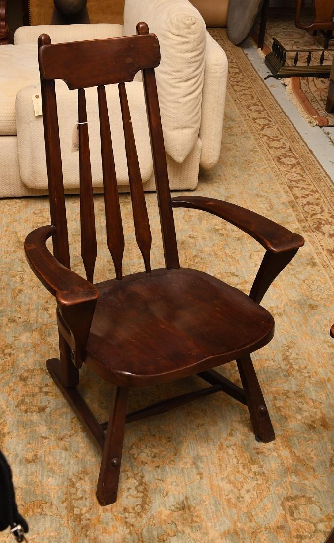 Pair American Studio craftsman armchairs - 2