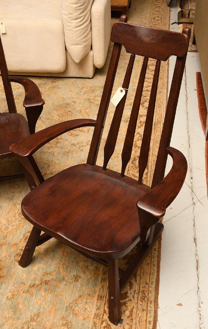 Pair American Studio craftsman armchairs - 4