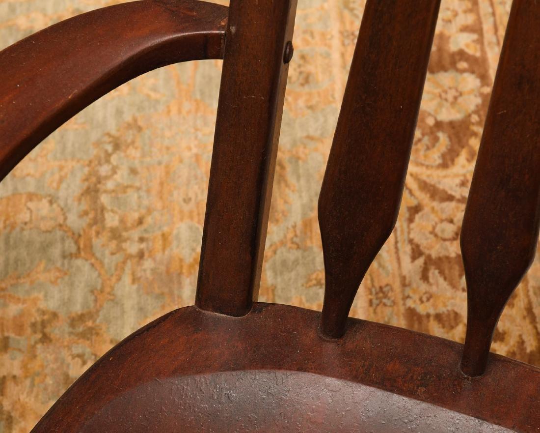 Pair American Studio craftsman armchairs - 5