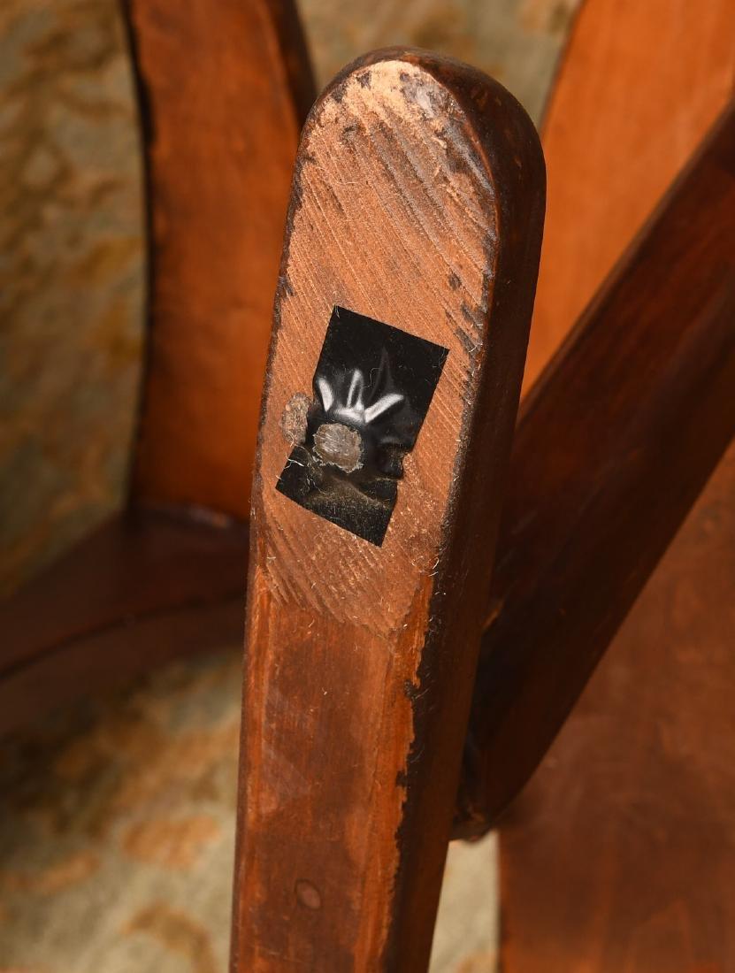 Pair American Studio craftsman armchairs - 9