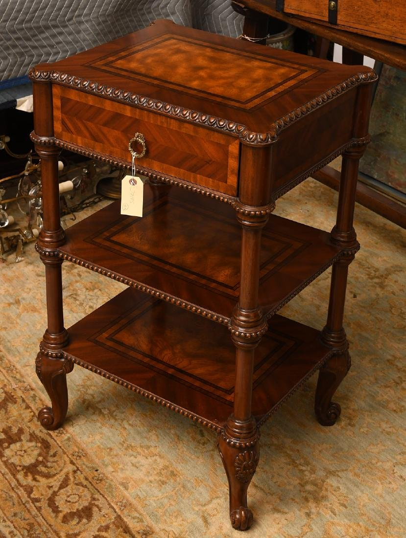 Maitland-Smith mahogany inlaid side table